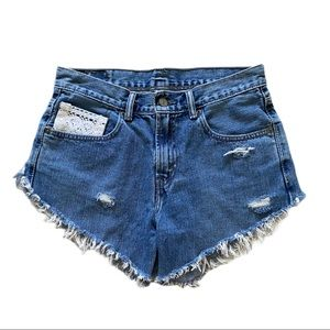 Levi's 550 Distressed Jean Shorts Size 29